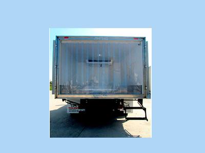 sala de proceso y camiones